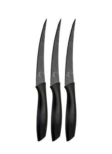The Mia Cutt Kesme Bıçağı 20 Cm - 3 Lü Set Siyah